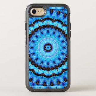 Capa Para iPhone 8/7 OtterBox Symmetry Mandala do azul da borboleta
