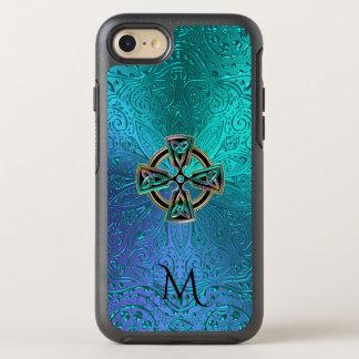 Capa Para iPhone 8/7 OtterBox Symmetry Mandala do nó da cruz celta de verde azul