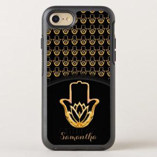 Capa Para iPhone 8/7 OtterBox Symmetry Mão dourada de Lotus Hamsa