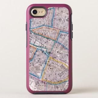 Capa Para iPhone 8/7 OtterBox Symmetry Mapa antigo de Paris