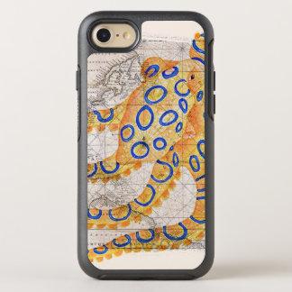Capa Para iPhone 8/7 OtterBox Symmetry Mapa azul do polvo do anel