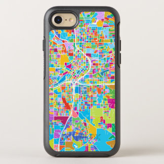 Capa Para iPhone 8/7 OtterBox Symmetry Mapa colorido de Atlanta
