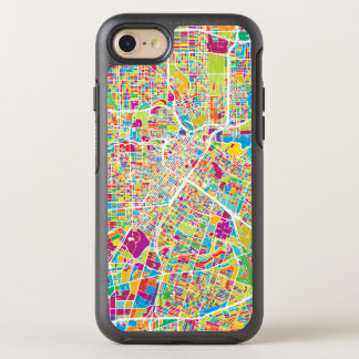 Capa Para iPhone 8/7 OtterBox Symmetry Mapa de néon de Houston, Texas |