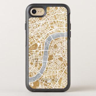 Capa Para iPhone 8/7 OtterBox Symmetry Mapa dourado da cidade de Londres