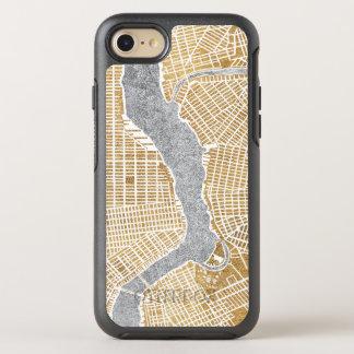 Capa Para iPhone 8/7 OtterBox Symmetry Mapa dourado da cidade de New York