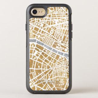 Capa Para iPhone 8/7 OtterBox Symmetry Mapa dourado da cidade de Paris