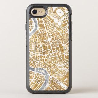 Capa Para iPhone 8/7 OtterBox Symmetry Mapa dourado da cidade de Roma
