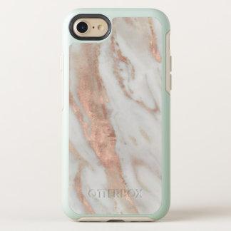Capa Para iPhone 8/7 OtterBox Symmetry Mármore branco elegante do ouro cor-de-rosa do na