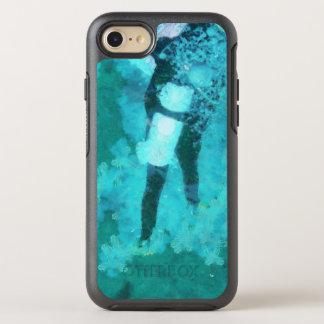 Capa Para iPhone 8/7 OtterBox Symmetry Mergulhador e bolhas de mergulhador
