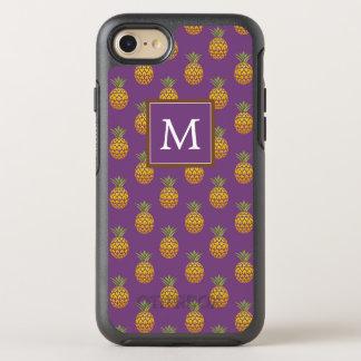 Capa Para iPhone 8/7 OtterBox Symmetry Monograma abacaxis roxos & de cobre de |