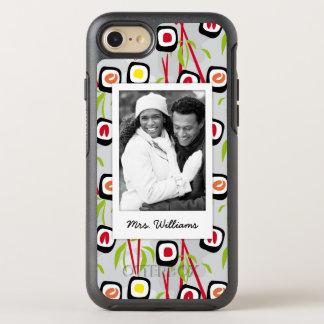 Capa Para iPhone 8/7 OtterBox Symmetry Monograma do teste padrão | do design do sushi