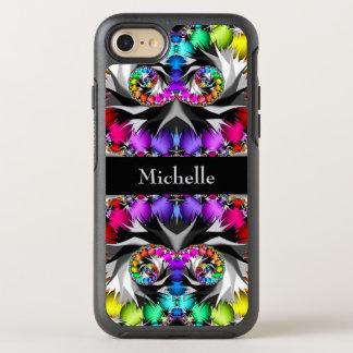 Capa Para iPhone 8/7 OtterBox Symmetry Monograma do toque do arco-íris do Fractal