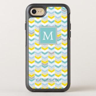 Capa Para iPhone 8/7 OtterBox Symmetry Monograma Herringbone amarelo & azul de |