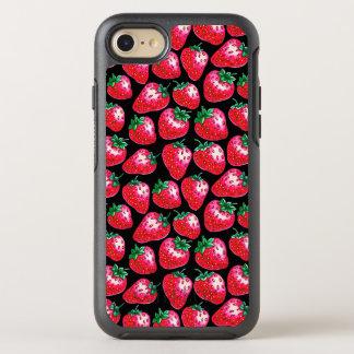 Capa Para iPhone 8/7 OtterBox Symmetry Morango vermelha no fundo preto