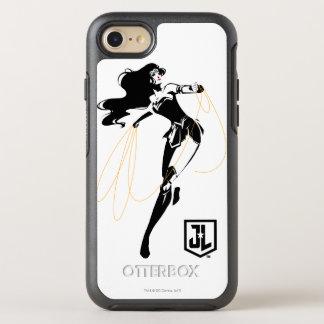 Capa Para iPhone 8/7 OtterBox Symmetry Mulher maravilha da liga de justiça   com pop art