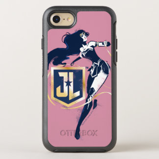 Capa Para iPhone 8/7 OtterBox Symmetry Mulher maravilha da liga de justiça   & de ícone