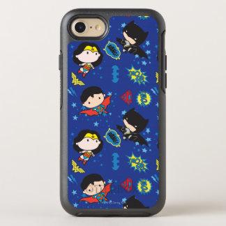 Capa Para iPhone 8/7 OtterBox Symmetry Mulher maravilha de Chibi, superman, e teste