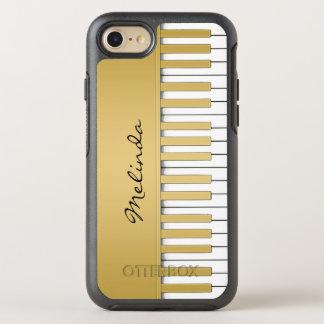 Capa Para iPhone 8/7 OtterBox Symmetry Música do teclado de piano do ouro