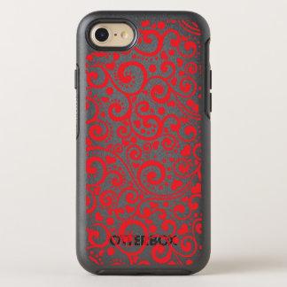 Capa Para iPhone 8/7 OtterBox Symmetry Namorados - corações vermelhos e redemoinhos sem