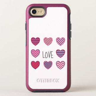 Capa Para iPhone 8/7 OtterBox Symmetry Namorados geométricos corajosos mínimos do amor