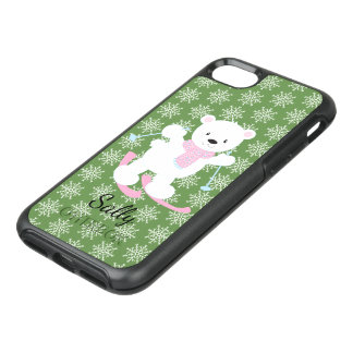 Capa Para iPhone 8/7 OtterBox Symmetry Natal adorável do urso polar do esqui