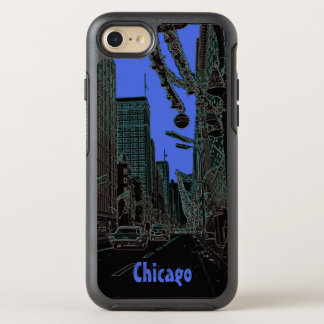 Capa Para iPhone 8/7 OtterBox Symmetry Natal da rua do estado de Chicago @ 1967 bordas de
