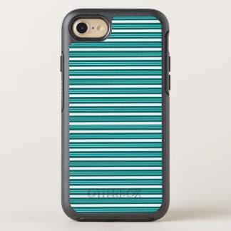 Capa Para iPhone 8/7 OtterBox Symmetry Nautical_Teal-Stripes (c) Apple_Samsung (c)