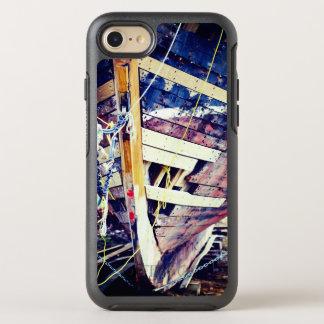 Capa Para iPhone 8/7 OtterBox Symmetry Navio de madeira dos retalhos