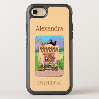 Capa Para iPhone 8/7 OtterBox Symmetry Nome do costume da casa de Adobe alaranjada & dos