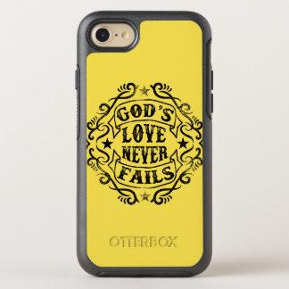Capa Para iPhone 8/7 OtterBox Symmetry O amor do deus nunca falha a capa de telefone de