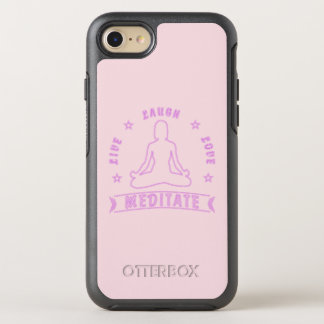 Capa Para iPhone 8/7 OtterBox Symmetry O amor vivo do riso Meditate texto fêmea (o néon)