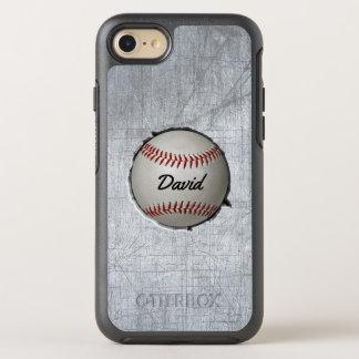 Capa Para iPhone 8/7 OtterBox Symmetry O basebol encaixa o metal legal do tema do esporte