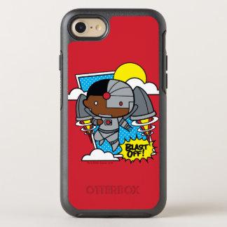 Capa Para iPhone 8/7 OtterBox Symmetry O Cyborg de Chibi sopra fora!