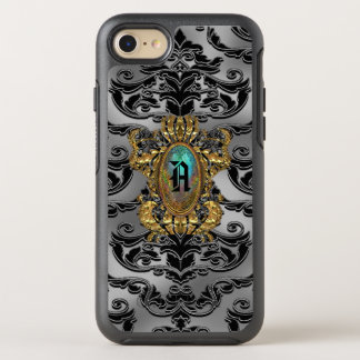 Capa Para iPhone 8/7 OtterBox Symmetry O damasco de Anabella bonito REFRIGERA o monograma