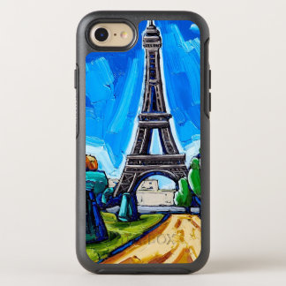 Capa Para iPhone 8/7 OtterBox Symmetry O exemplo do telemóvel da torre Eiffel