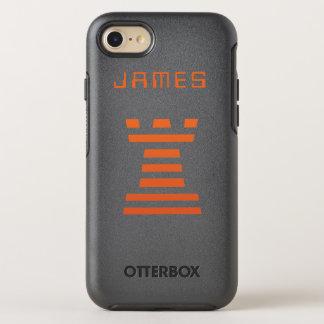 Capa Para iPhone 8/7 OtterBox Symmetry O iPhone de ChessME adiciona o nome