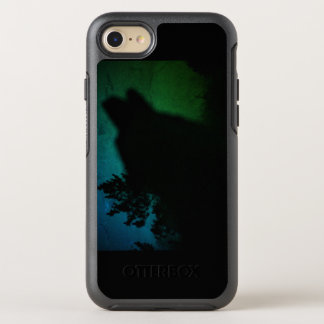 Capa Para iPhone 8/7 OtterBox Symmetry o lobo que urra com norther ilumina o otterbox