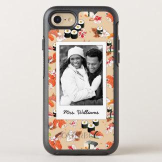 Capa Para iPhone 8/7 OtterBox Symmetry O teste padrão alaranjado | do sushi adiciona sua