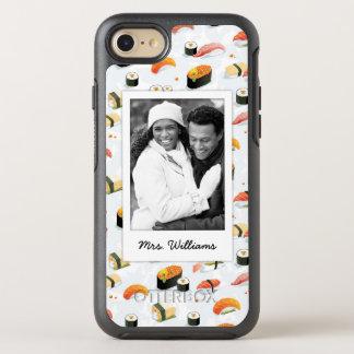 Capa Para iPhone 8/7 OtterBox Symmetry O teste padrão japonês | do sushi da comida |