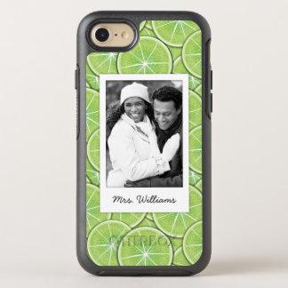 Capa Para iPhone 8/7 OtterBox Symmetry O teste padrão verde | do limão adiciona sua foto