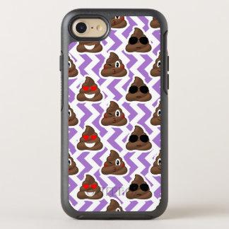 Capa Para iPhone 8/7 OtterBox Symmetry O Zig roxo Zagged teste padrão de Emoji do