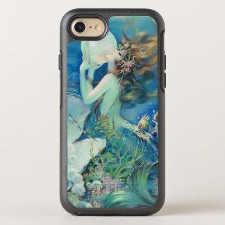Capa Para iPhone 8/7 OtterBox Symmetry Oceano náutico da pérola de w da sereia do vintage