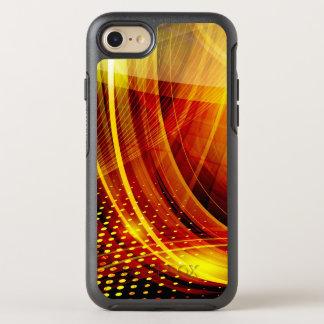 Capa Para iPhone 8/7 OtterBox Symmetry Olá! redemoinho do amarelo da tecnologia