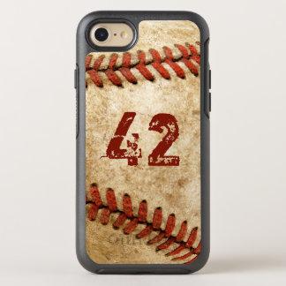 Capa Para iPhone 8/7 OtterBox Symmetry Olhar do Grunge do basebol do vintage com seu