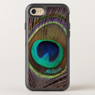 Capa Para iPhone 8/7 OtterBox Symmetry Olho bonito da pena do pavão, seu nome