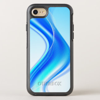 Capa Para iPhone 8/7 OtterBox Symmetry Onda azul de Swirly