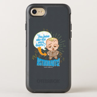 Capa Para iPhone 8/7 OtterBox Symmetry Os astronautas do bebê   do chefe
