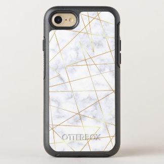 Capa Para iPhone 8/7 OtterBox Symmetry ouro de mármore branco do falso do pintinho