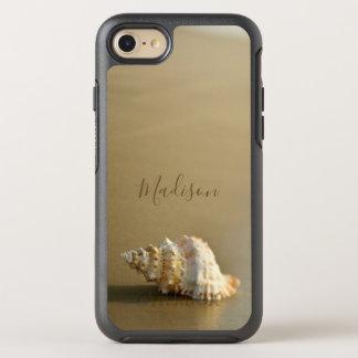 Capa Para iPhone 8/7 OtterBox Symmetry Ouro do Seashell dos amantes da praia