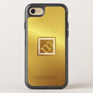 Capa Para iPhone 8/7 OtterBox Symmetry Ouro escovado luxo com monograma angular quadro